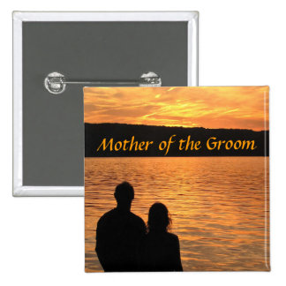 Tropical Beach Sunset Mother of the Groom Pin