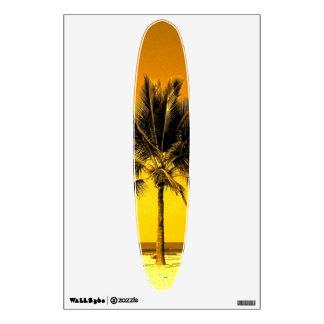 Tropical Beach Sunset Palm Tree Wall Decal