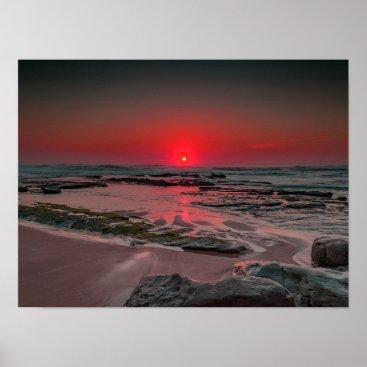 Beach Themed Tropical Beach Sunset Poster