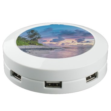 Beach Themed Tropical Beach Sunset USB Charging Station