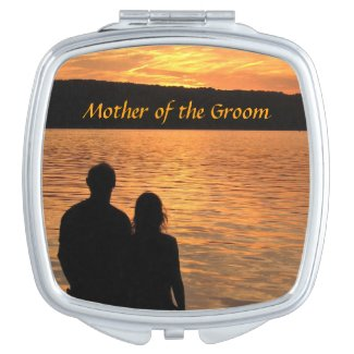 Tropical Beach Sunset Wedding Mother of the Groom Vanity Mirror