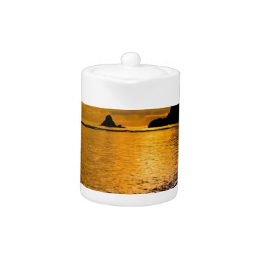 Beach Themed tropical beach teapot