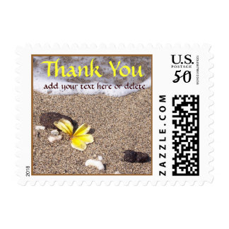Tropical Beach Thank You Postage