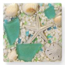 Tropical Beach Theme Drink Coasters