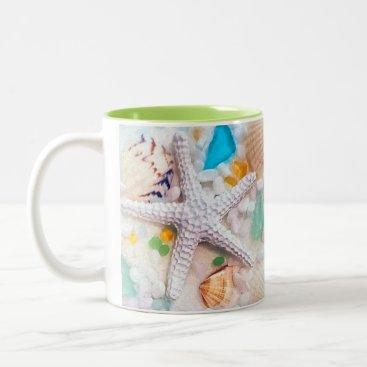Beach Themed Tropical Beach Theme Two-Tone Coffee Mug