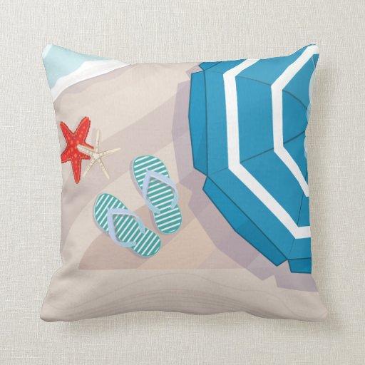 Inexpensive Beach Throw Pillows : Tropical beach throw pillow Zazzle