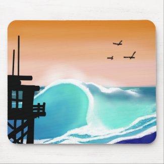 Tropical Beach Tower Mousepad