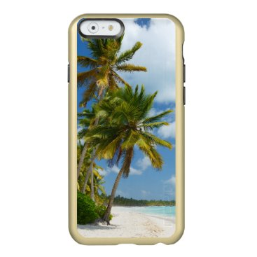 Beach Themed Tropical Beach Turquoise Water and Coastal Palms Incipio Feather Shine iPhone 6 Case