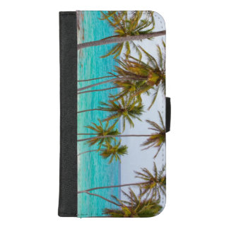 Tropical Beach Turquoise Water and Palm Trees iPhone 8/7 Plus Wallet Case