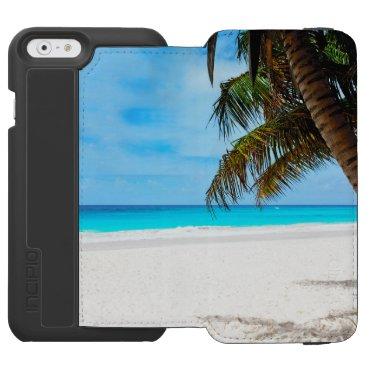 Beach Themed Tropical beach, turquoise water iPhone 6/6s wallet case