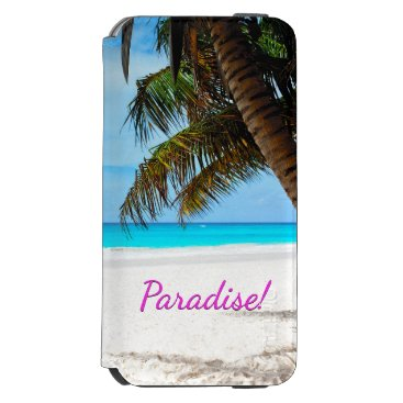 gypsypoetproducts Tropical beach, turquoise water iPhone 6/6s wallet case