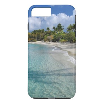 Beach Themed Tropical beach, turquoise water, palm trees iPhone 7 plus case