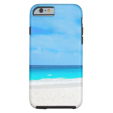 gypsypoetproducts Tropical beach, turquoise water tough iPhone 6 case
