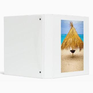 Tropical beach umbrella vinyl binder