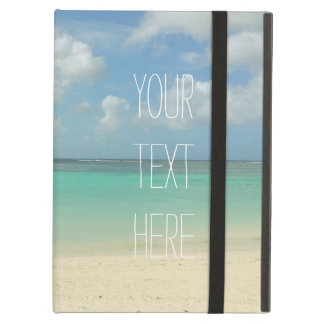 Tropical Beach Vacation Customizable Quote Cover For iPad Air