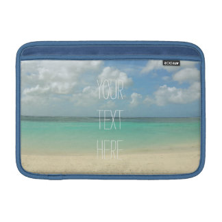 Tropical Beach Vacation Customizable Quote Sleeves For MacBook Air