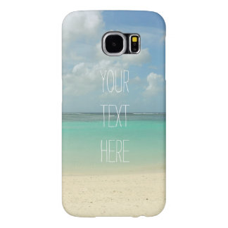 Tropical Beach Vacation Customizable Quote Samsung Galaxy S6 Case