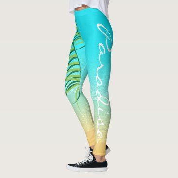 Tropical Beach Vacation Leggings