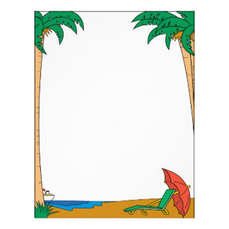 Tropical Beach Vacation Letterhead