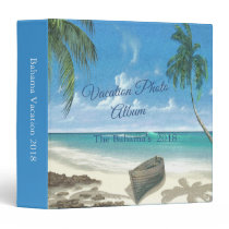 Tropical Beach Vacation Photo Album 3 Ring Binder