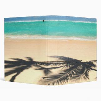 Tropical beach vinyl binder