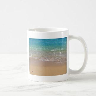 Tropical Beach - Waikiki, Oahu, Hawaii Mugs