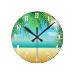 Tropical Beach Wall Clocks