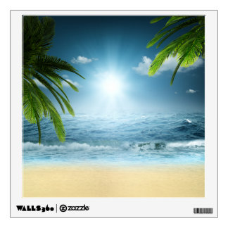 Tropical Beach Wall Decal