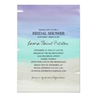 Tropical Beach Watercolor Bridal Shower Card
