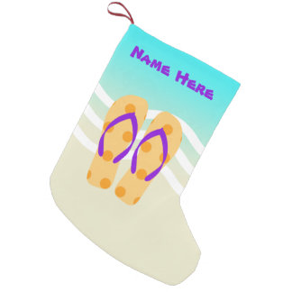 Tropical Beach Waves Christmas Holiday Small Christmas Stocking