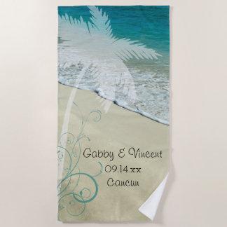 Tropical Beach Wedding Beach Towel