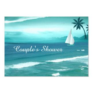 Tropical Beach Wedding Couples Shower Invitation