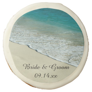 Tropical Beach Wedding Favor Sugar Cookie