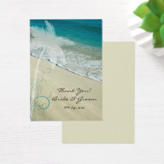 Tropical Beach Wedding Favor Tags at Zazzle