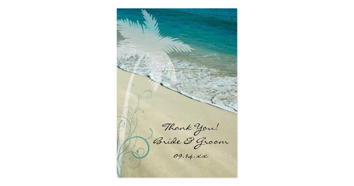 Wedding Favor Tags Beach : Tropical Beach Wedding Favor Tags Large Business Card Zazzle