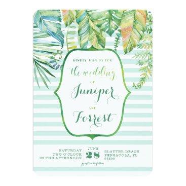 Beach Themed Tropical Beach Wedding Invitation