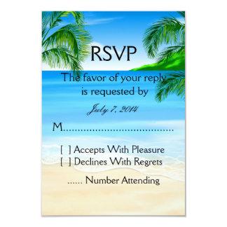 "Tropical Beach Wedding 3.5"" X 5"" Invitation Card"
