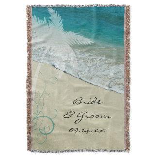 Tropical Beach Wedding Keepsake Throw Blanket