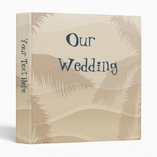 Tropical Beach Wedding Photo Album Binder