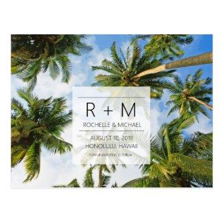 Tropical Beach Wedding Save the Dates Postcard