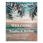 Tropical Beach Wedding | String of Lights Poster