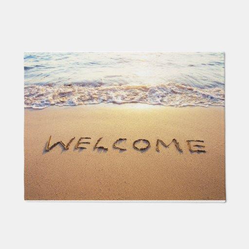 Tropical Beach Welcome Door Mat 18 Quot X 24 Quot Zazzle