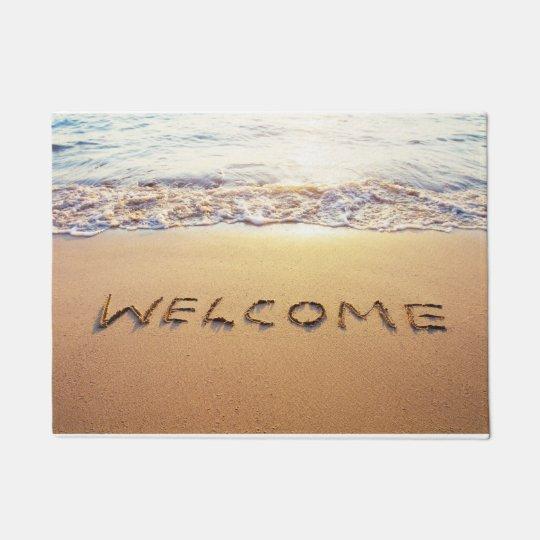 Tropical Beach Welcome Door Mat 18