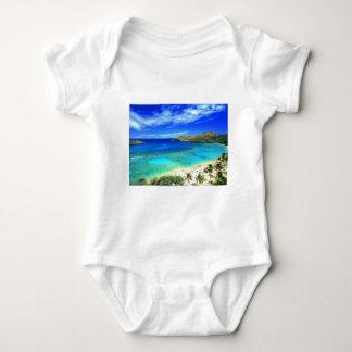 TROPICAL BEACH WISH YOU WERE HERE CUSTOM POSTCARD BABY BODYSUIT
