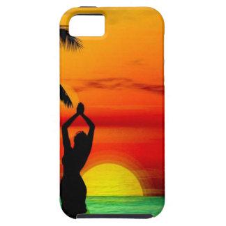 TROPICAL BEACH WISH YOU WERE HERE CUSTOM POSTCARD iPhone SE/5/5s CASE