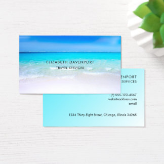 Tropical Beach with a Turquoise Sea Business Card