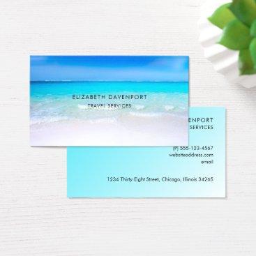 Beach Themed Tropical Beach with a Turquoise Sea Business Card