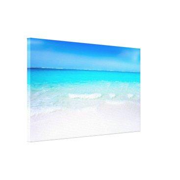 Beach Themed Tropical Beach with a Turquoise Sea Canvas Print