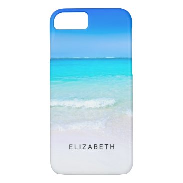 Beach Themed Tropical Beach with a Turquoise Sea Custom iPhone 7 Case