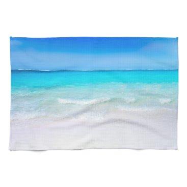 Beach Themed Tropical Beach with a Turquoise Sea Hand Towel